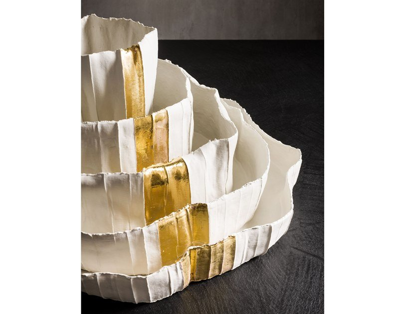 Ceramic serving bowl NINFEE - TALL by Paola Paronetto