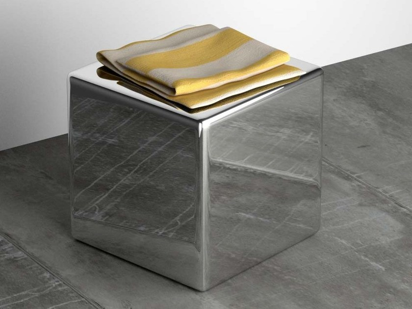 Stainless steel bathroom stool NINO by Componendo