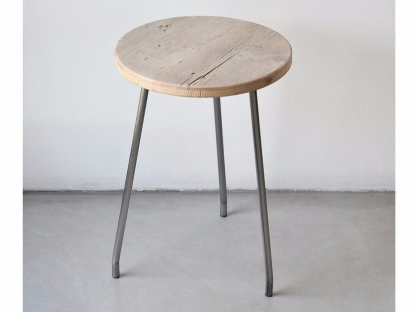 Low reclaimed wood stool NINO | Reclaimed wood stool by Moab80