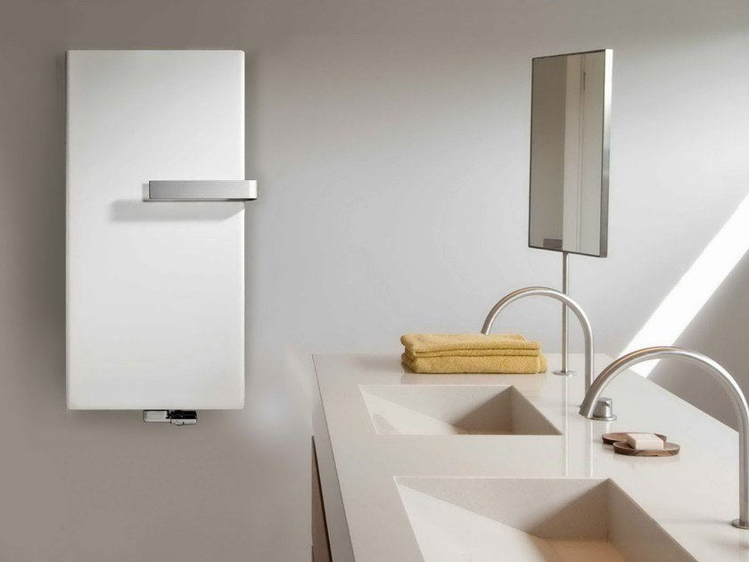 Vertical wall-mounted steel radiator NIVA by VASCO