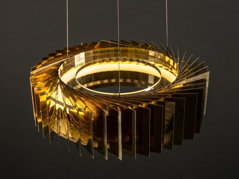 Led metal pendant lamp nivala single by cameron design house