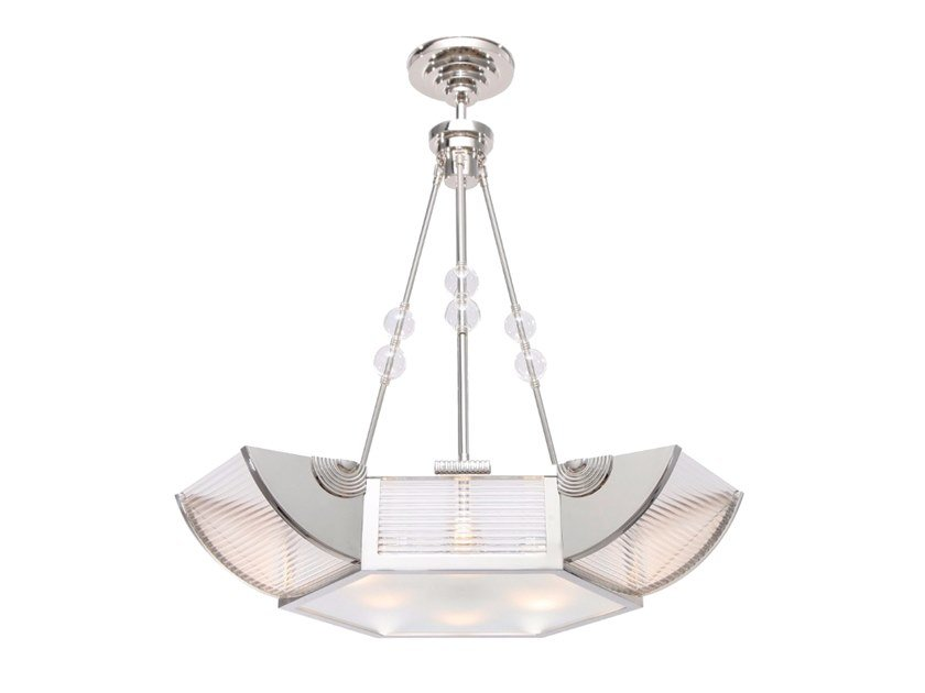 Brass ceiling lamp NIZZA CHANDELIER I by Patinas Lighting