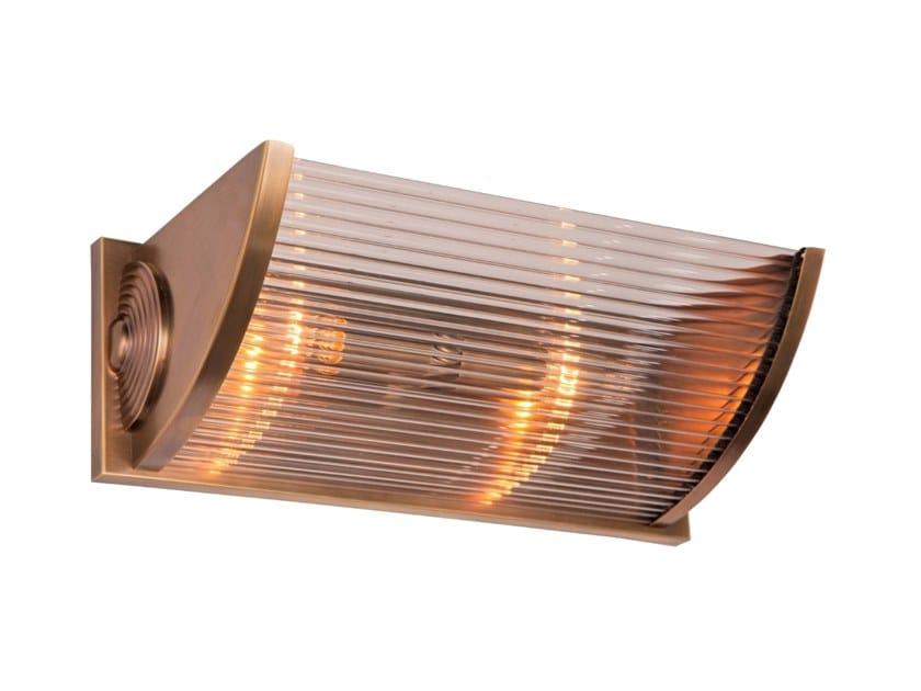 Handmade brass wall light NIZZA I | Wall lamp by Patinas Lighting