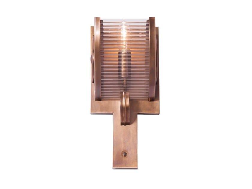 Handmade brass wall lamp NIZZA III | Wall lamp by Patinas Lighting