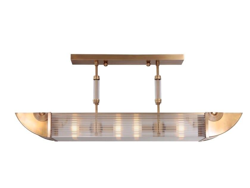 Handmade brass ceiling lamp NIZZA PENDANT I by Patinas Lighting