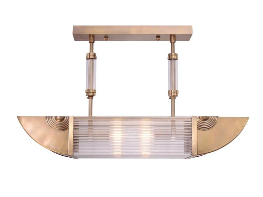 Handmade brass ceiling lamp NIZZA PENDANT II by Patinas Lighting