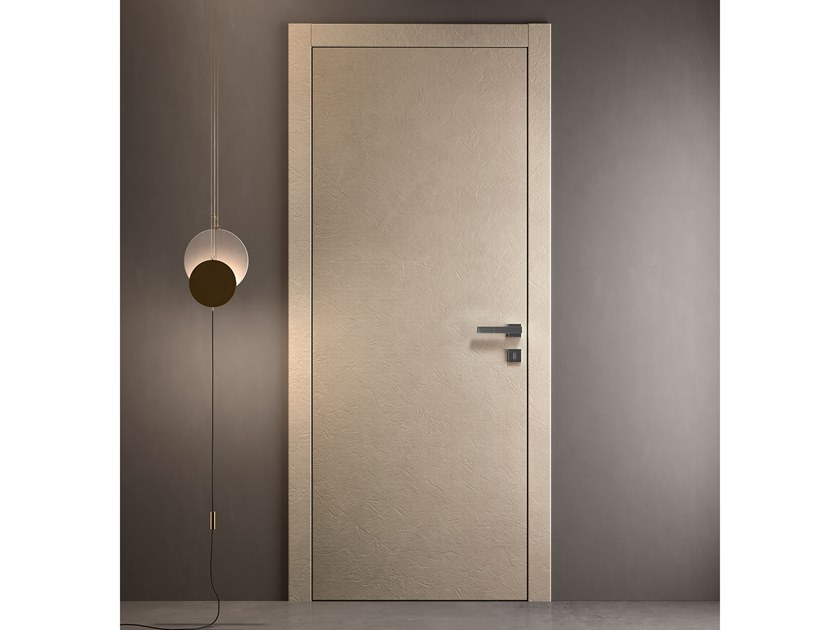 Contemporary style hinged engineered wood door with concealed hinges NO-LIMITS LON by GIDEA