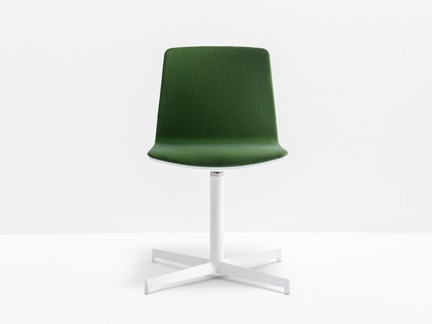 Swivel upholstered chair with 4-spoke base NOA 727/2 by PEDRALI