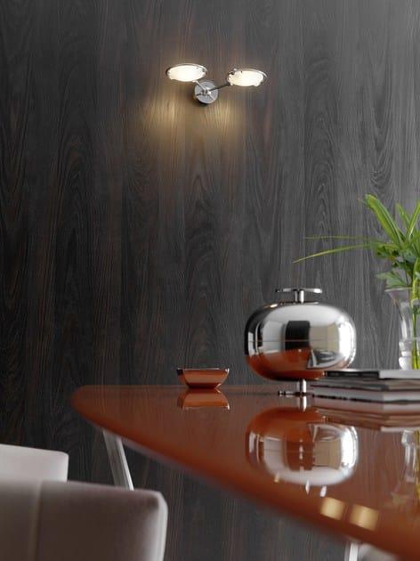 Wandlampe aus satiniertem Glas NOBI 2 By FontanaArte Design Metis ...