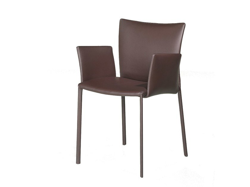 Leather chair with armrests NOBILE | Chair with armrests by Draenert