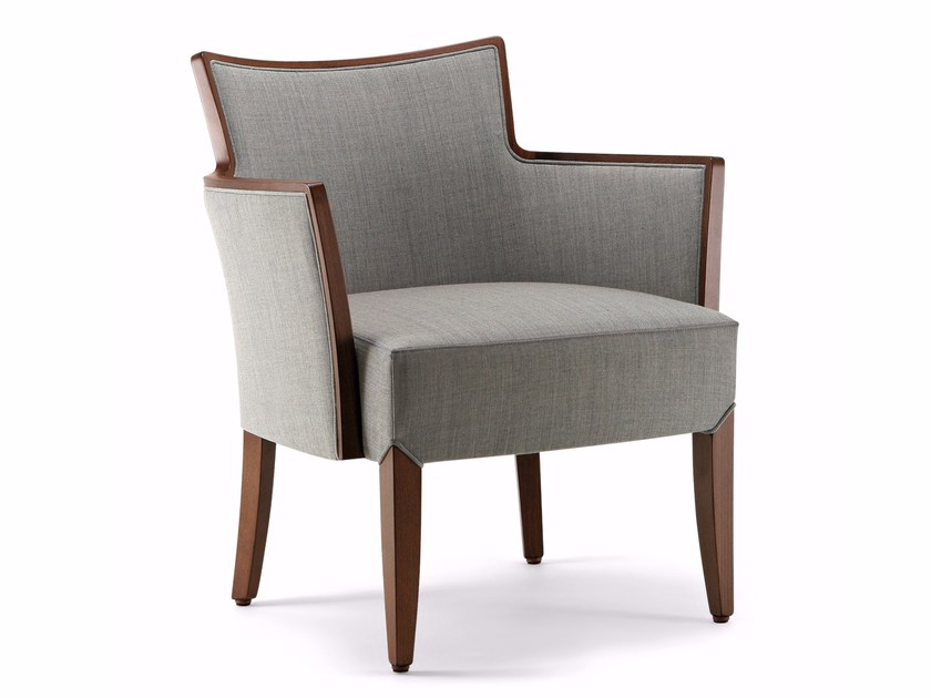 Easy chair with armrests NOBILIS | Easy chair by Varaschin