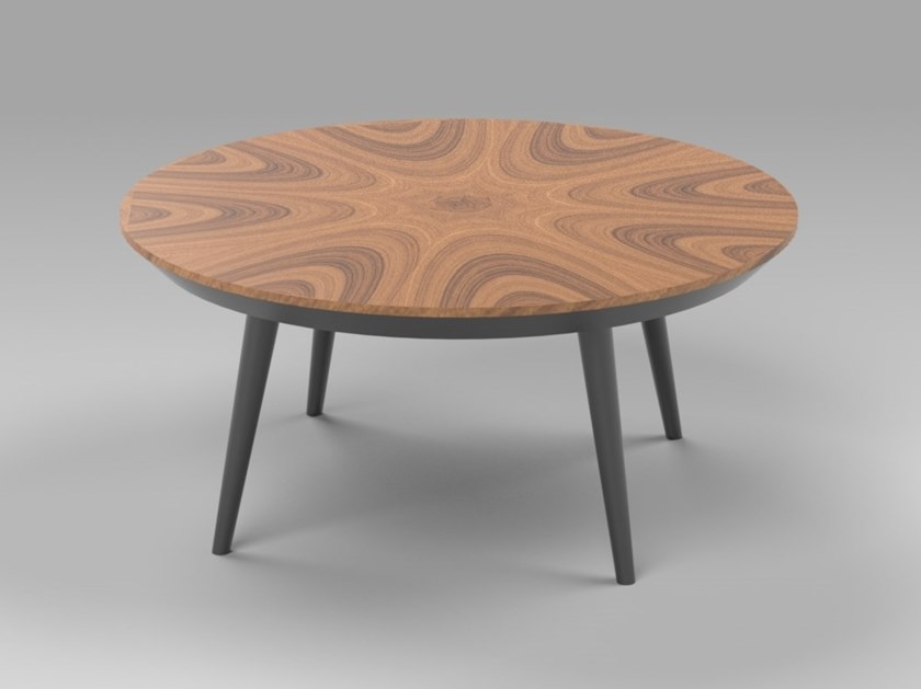 Contemporary style round wood-product coffee table for living room NOBLE | MDF coffee table by AMA Design