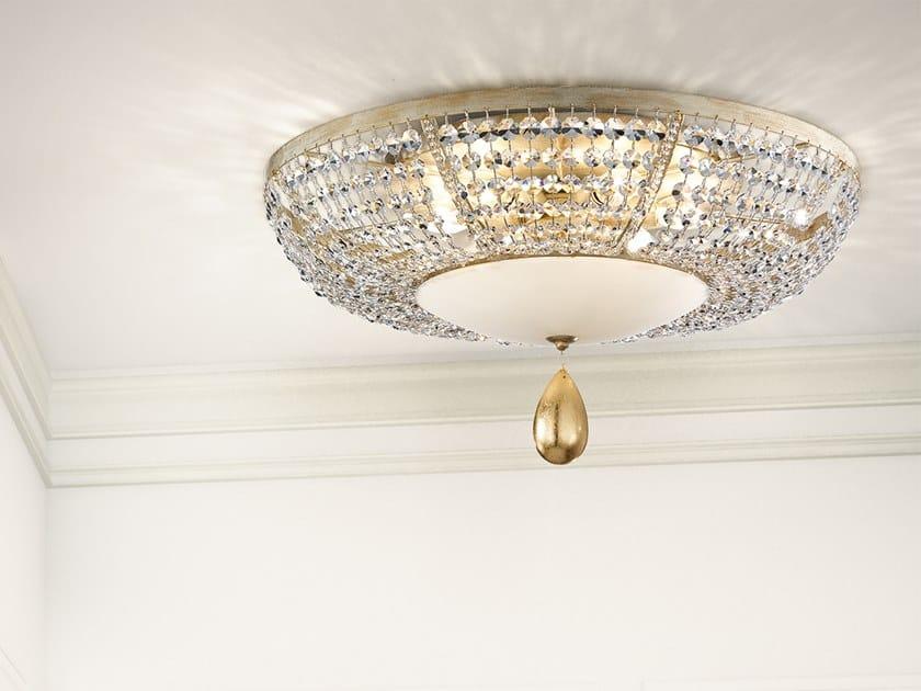 Masiero Con Pl6 Lampada Soffitto Noblesse In Cristalli Da Metallo b6fgvY7y
