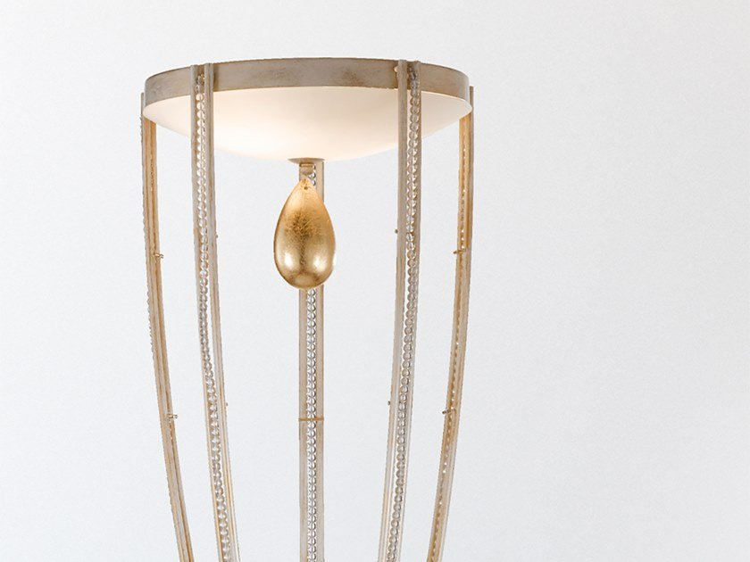 Metal floor lamp with crystals NOBLESSE STL2 by Masiero