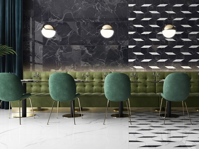 Porcelain stoneware wall/floor tiles with marble effect NOCTURNE by Villeroy & Boch Fliesen
