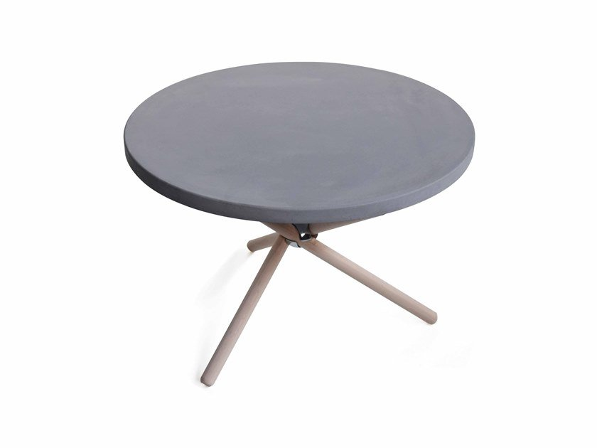 Round concrete coffee table NODO by URBI et ORBI