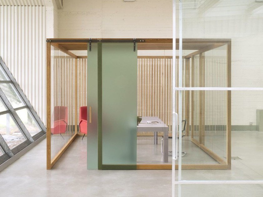Wood and glass movable wall NODOO | Movable wall by NODOO