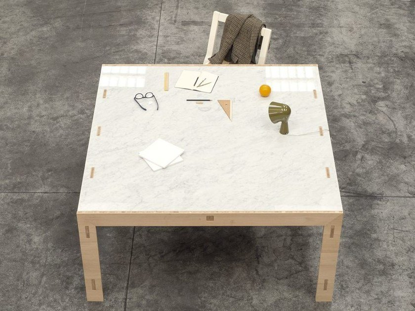 Square solid wood table NODOO | Square table by NODOO