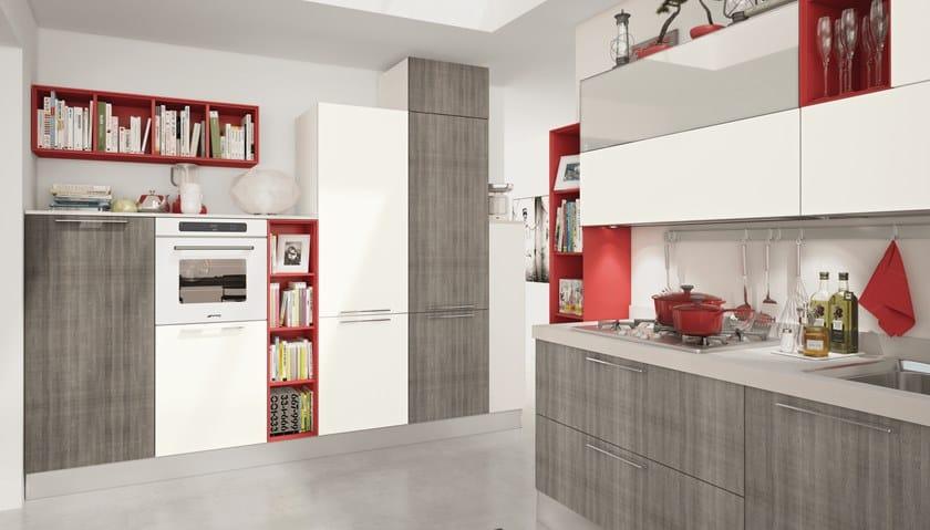 Cucina componibile con maniglie NOEMI 1 - Cucine Lube
