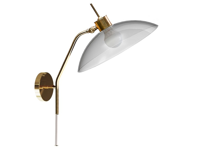 Adjustable brass wall light with fixed arm NOHO | Wall lamp by Creativemary