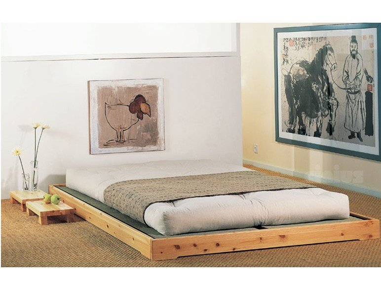 Tatami solid wood bed NOKIDO by Cinius