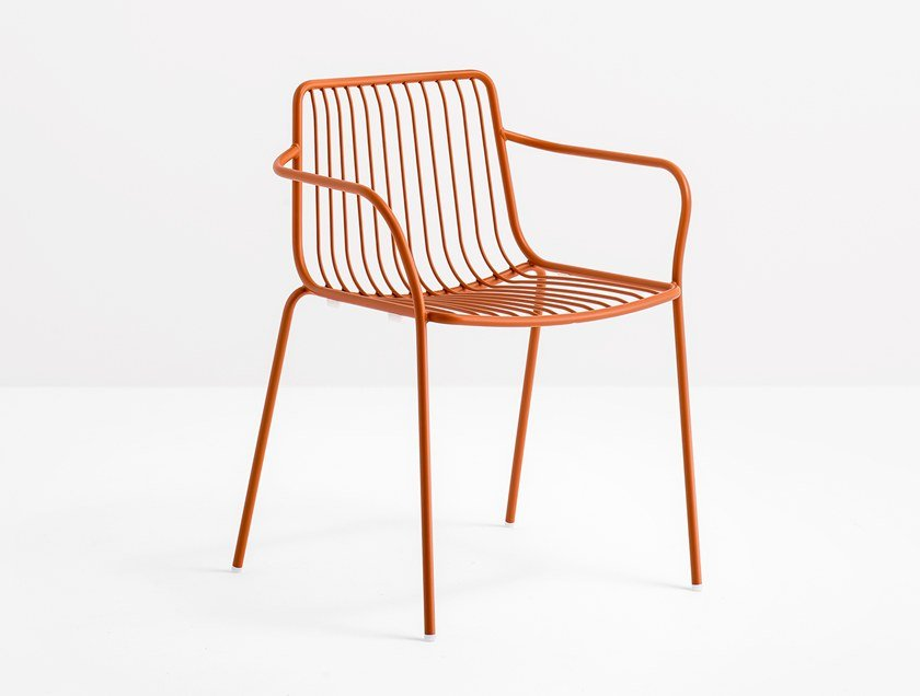 Metal chair with armrests NOLITA 3655 by PEDRALI