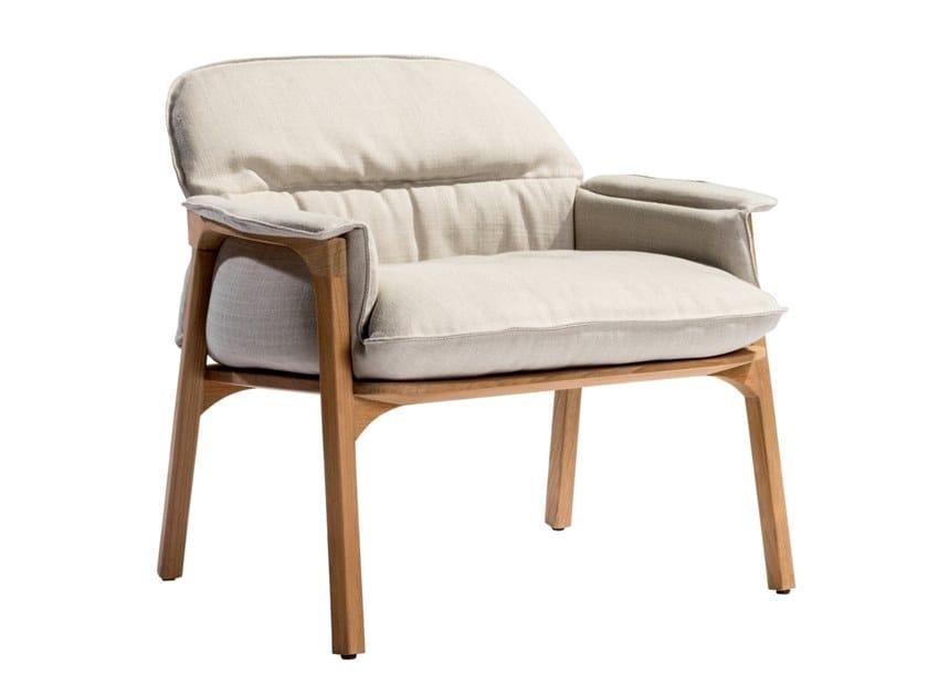Cadeira lounge de tecido com braços NOMAD | Cadeira lounge by TRIBÙ