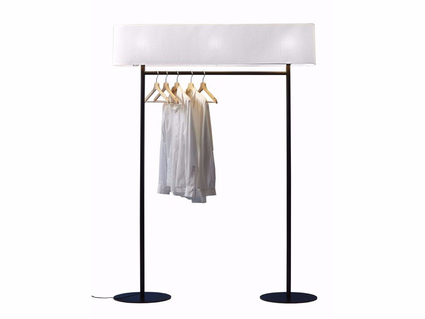 Floor lamp with clothes rail NOMAD by Tooy