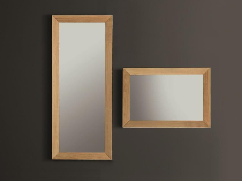 Specchio rettangolare in rovere da parete con cornice NOO | Specchio by AltaCorte