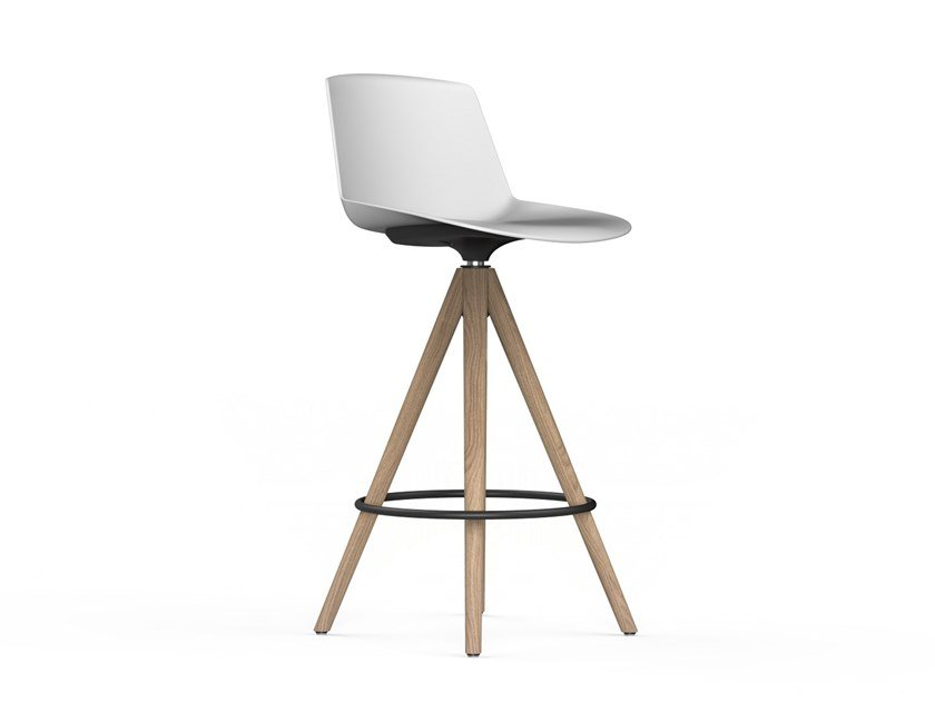 High barstool with footrest NOOM | Stool by ACTIU