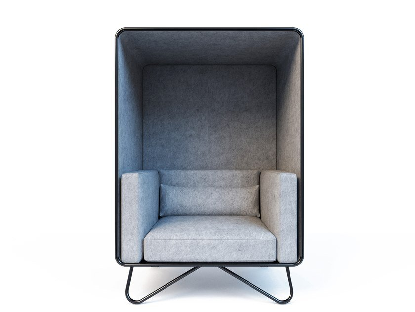 Acoustic high-back fabric armchair NOOOK 1 | Acoustic armchair by Aliticon