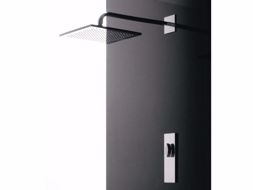 Single handle shower mixer with overhead shower NOOX | Shower mixer with overhead shower by ZAZZERI