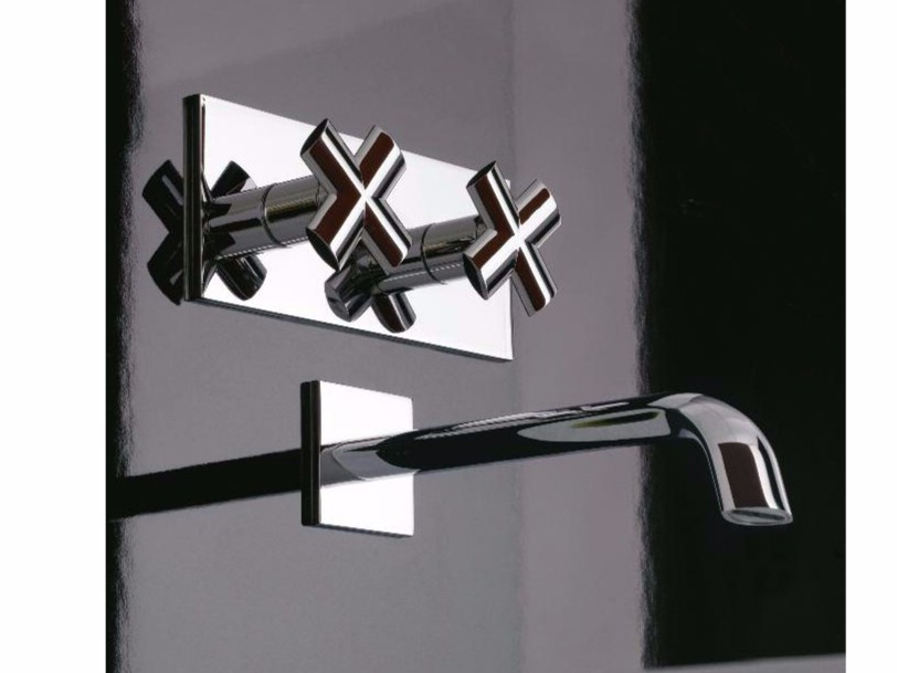 Wall-mounted washbasin tap NOOX | Wall-mounted washbasin tap by ZAZZERI