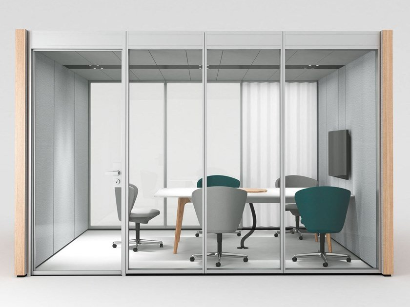 Acoustic meeting pod with built-in lights NOOXS THINK TANK By