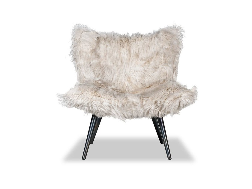 Fur armchair NORDKAPP by BAXTER