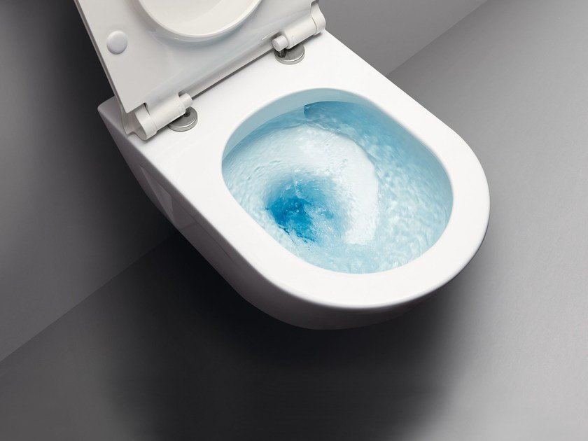 Wall-hung ceramic toilet NORM 55F | Wall-hung toilet by GSI ceramica