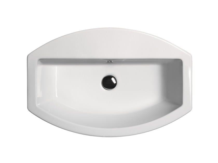 Pedestal washbasin with overflow NORM H85   Pedestal washbasin by GSI ceramica