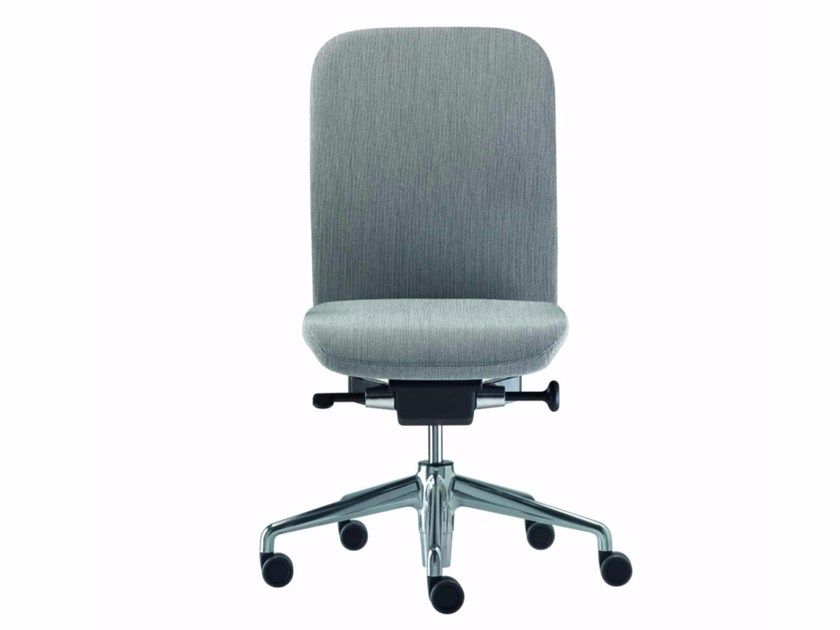 Fabric task chair with 5-Spoke base with casters NORMA FABRIC - 380_F by Alias