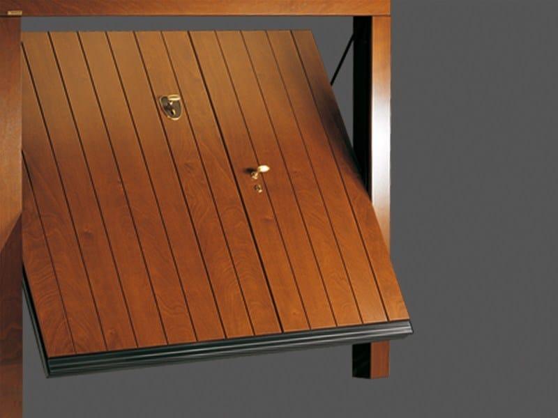 Up-and-over wooden garage door NORMAL PLUS by DE NARDI