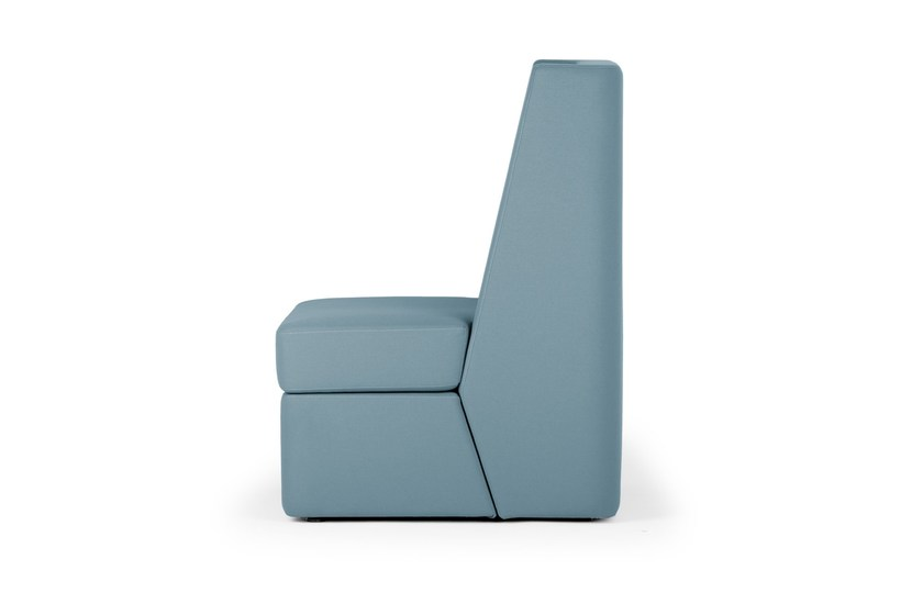 Contemporary style sectional high-back upholstered armchair NOSMOKING | Lobby chair by True Design