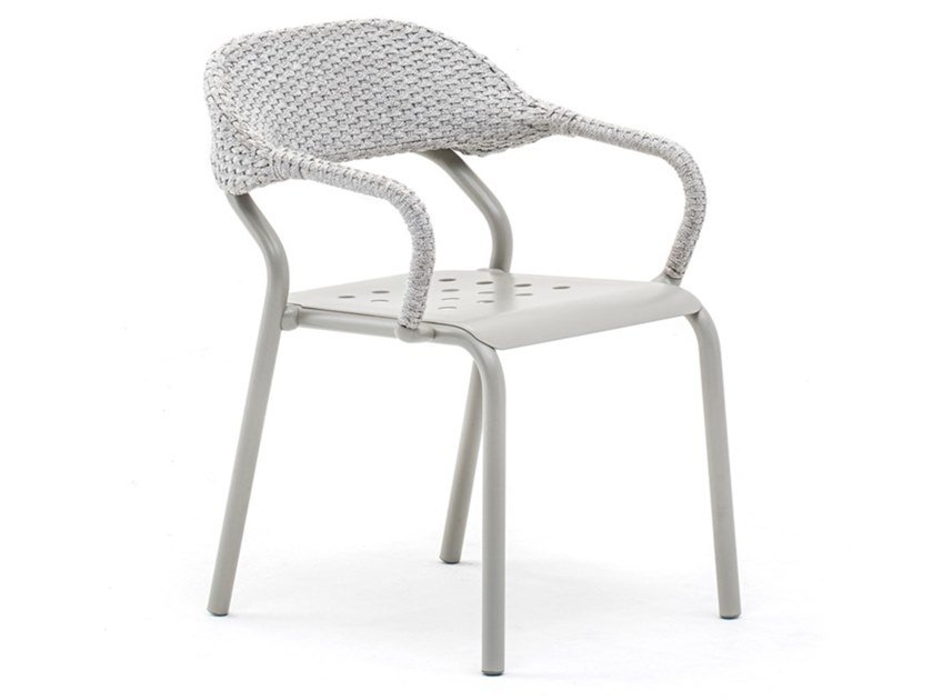 Stackable chair with armrests NOSS by Varaschin