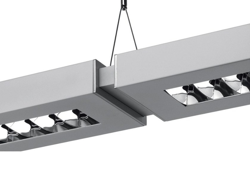 Direct-indirect light aluminium pendant lamp with dimmer NOTA BENE SYSTEM by Artemide