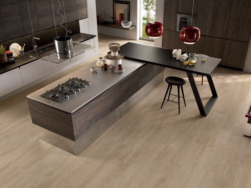 Porcelain stoneware wall/floor tiles with wood effect NOTE HONEY by CERAMICHE KEOPE