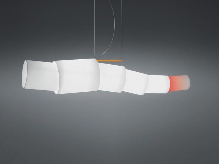 Lampada a sospensione a luce diretta in vetro NOTO by Artemide