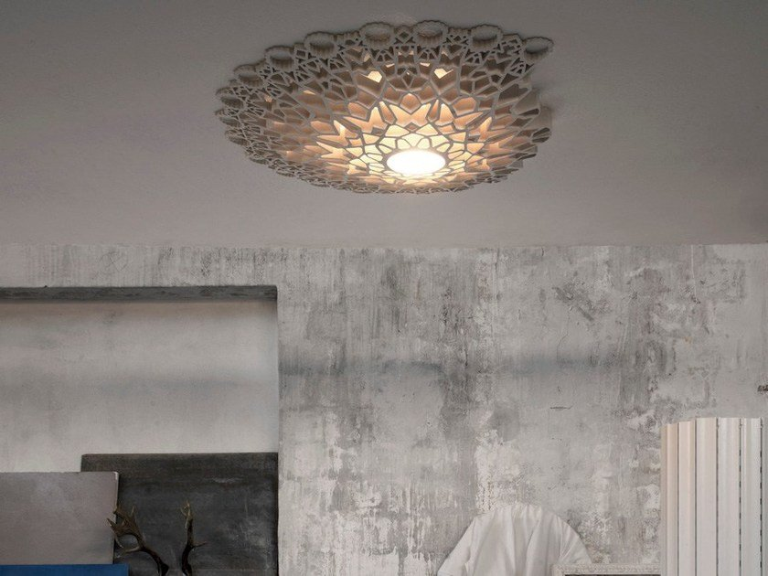 LED cultured marble ceiling light NOTREDAME | Ceiling light by Karman