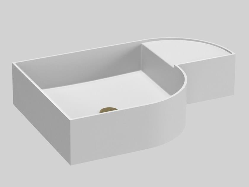Lavabo en Livingtec® avec plan intégré NOUVEAU | Lavabo en Livingtec® by Ex.t
