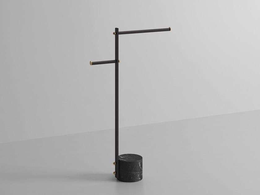 Metal toilet roll holder / towel rack NOUVEAU | Standing towel rack by Ex.t