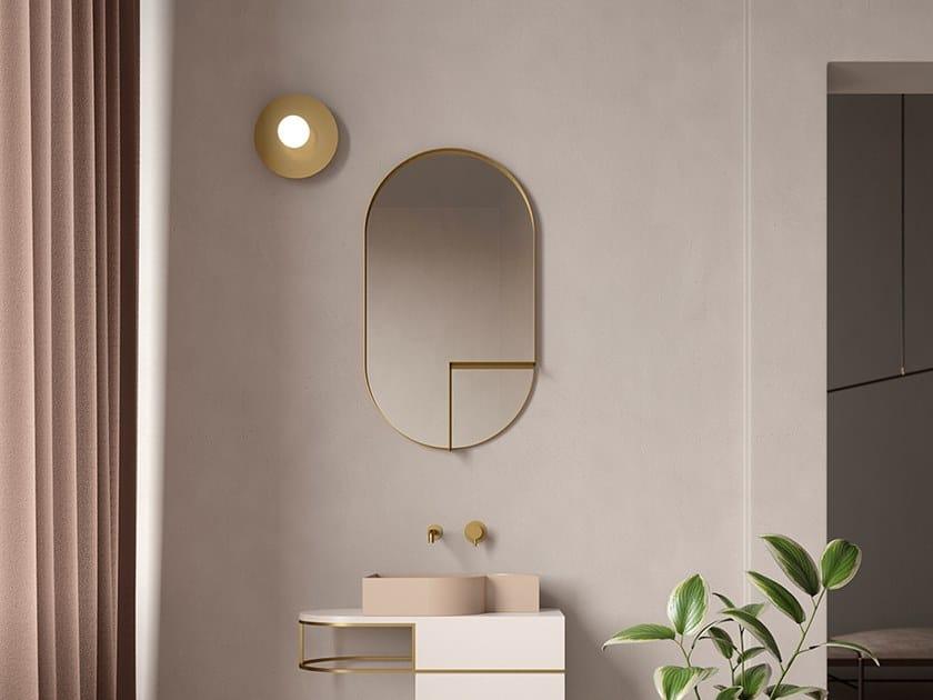 Espelho oval com prateleira de parede NOUVEAU SHELF by Ex.t