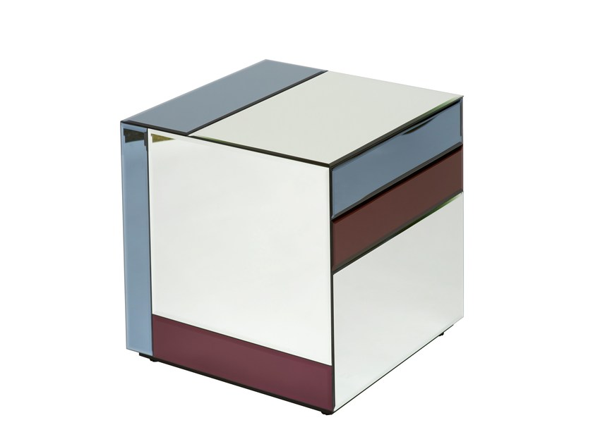 Square glass coffee table NOUVEAU TABLE SMALL by Reflections Copenhagen
