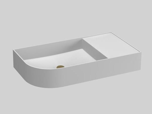 Lavabo rectangulaire en Livingtec® avec plan intégré NOUVEAU | Lavabo avec plan intégré by Ex.t